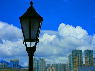 寝静まった街灯と香港 FYI00185512