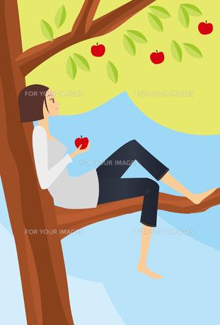 林檎と女の子 FYI00189847