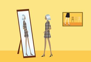 鏡の前の女性 FYI00189900