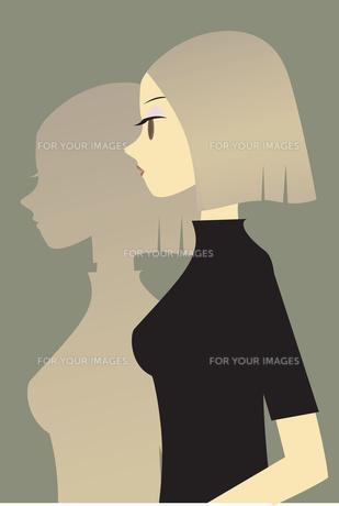 女性 横顔 FYI00189917