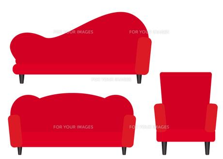 赤いソファー FYI00189928