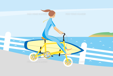 サーフボードと女の子 FYI00189940