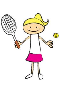 テニスをする女性 FYI00189953