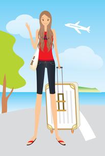 旅行 トランクを持つ女性 FYI00189972