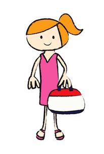 バッグを持つ女の子 FYI00189973