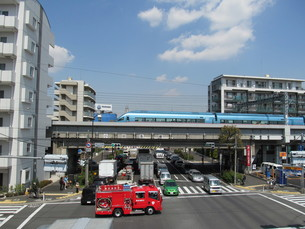 環八通りと小田急線 FYI00201596