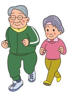 老夫婦のジョギング FYI00205226