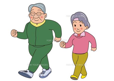 老夫婦のウォーキング FYI00205227