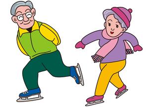 老夫婦のスケート FYI00205231