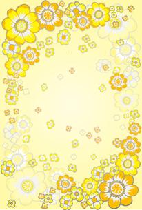 黄色い花の図案 FYI00227127