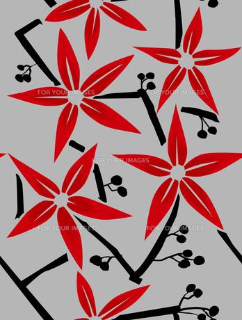 赤い花のパターン FYI00227133