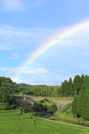 虹がかかる通潤橋 FYI00240995