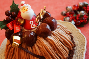 クリスマスのモンブランケーキ  FYI00242286