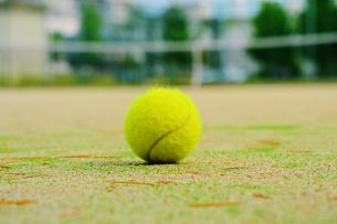 テニスコートとボール FYI00251253