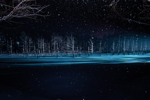 青い池 冬 FYI00259605