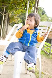 お菓子をかじる赤ちゃん FYI00263694