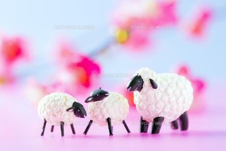 羊の親子の置物 FYI00264777