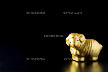 黒バックの金の羊 FYI00264791