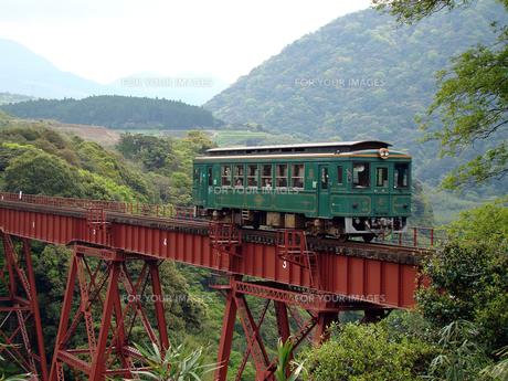 山間を走る電車 FYI00272340
