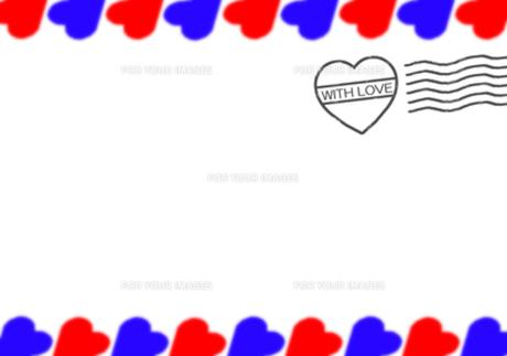 ハートのスタンプ付エアメール風ハートのフレーム Fyi00277809 気軽