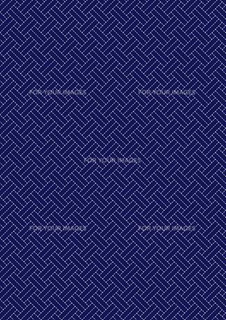 刺し子の網代文様 FYI00282682