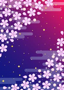 桜と宝石の和柄 FYI00282795