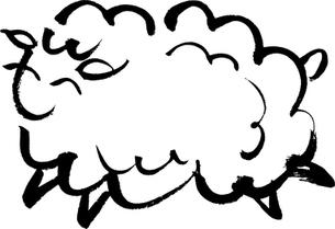 毛筆による羊のイラスト FYI00282866