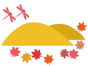 山とモミジと赤とんぼ FYI00297906