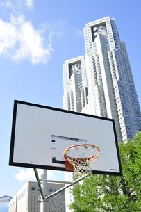 都心にあるバスケットゴール FYI00304757