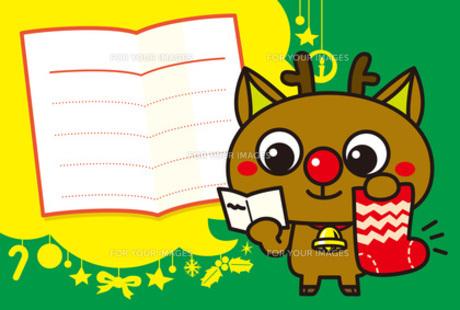 赤鼻のトナカイのメッセージカード Fyi00308742 気軽に使える写真