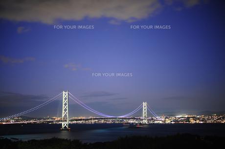 明石海峡大橋夜景-1 FYI00316643