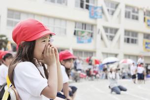 運動会で応援する女の子 FYI00318377