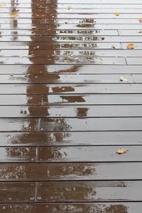 雨のウッドデッキ FYI00321672