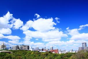 大阪城から望むビジネス街 FYI00322066