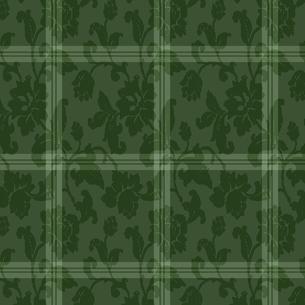 チェックと植物の装飾模様 ラッピング FYI00322771