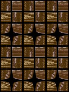 茶色のブロック模様 FYI00322902