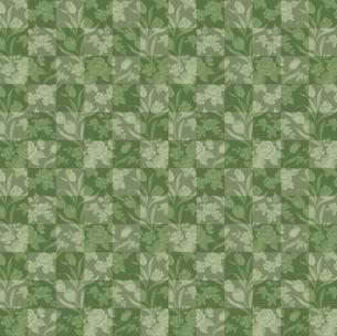グリーンの花柄のチエック FYI00322907