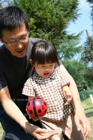 ボールで遊ぶ親子 FYI00325160