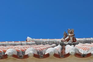赤瓦の屋根とシーサー FYI00335943
