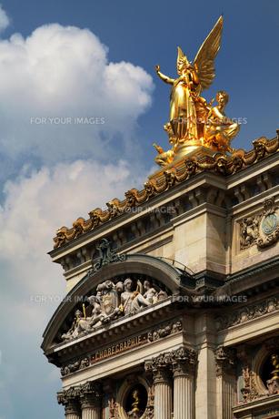 パリ・オペラ座正面ファサード左上詳細 FYI00382336