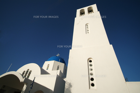 サントリーニ島の教会の鐘楼 FYI00382382