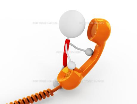 受話器を持つ FYI00383551