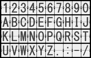 反転フラップ式案内表示機(文字素材) FYI00392213