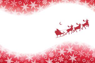 クリスマス 雪とサンタクロース (Christmas Snowflakes and Santa Claus) FYI00417046