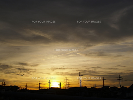 夕日と雲 FYI00419298
