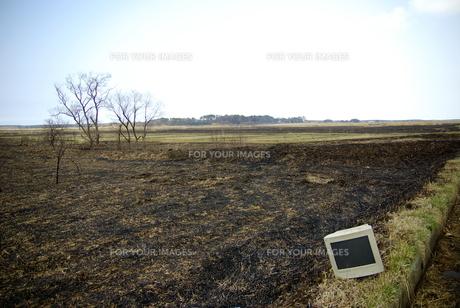 畑とモニター FYI00420125
