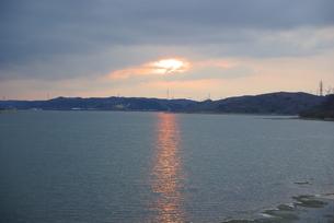 鷹架沼の夕日 FYI00420140