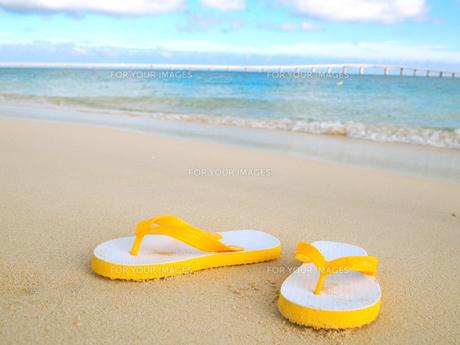 砂浜とビーチサンダル FYI00421535