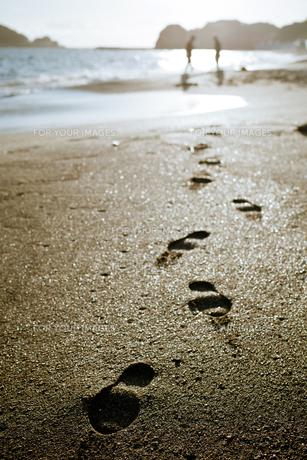 砂浜と足跡 FYI00430632