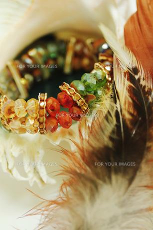 貝殻と羽と腕輪 FYI00436067